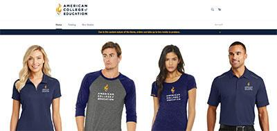 American College of Education online store.