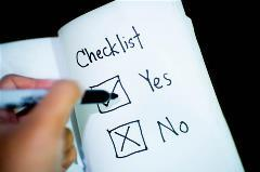 Stock photo of a check list