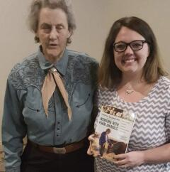 Amy Vaughan-Roland with Dr. Temple Grandin